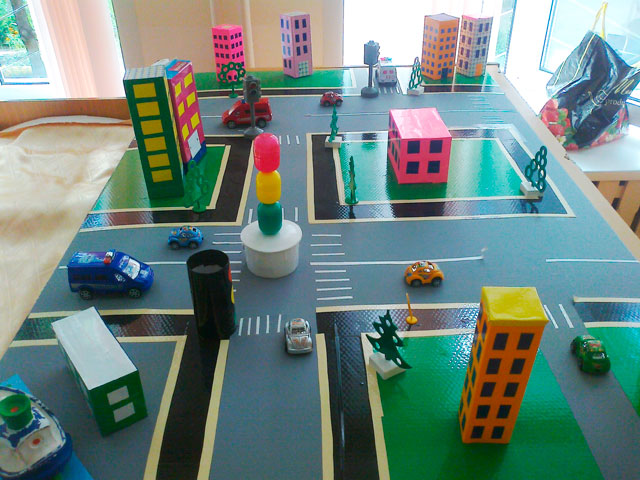 Макеты для детского сада своими руками дорожное движение